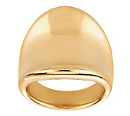 Oro Nuovo Bold Polished Concave Tapered Ring 14K - J287224