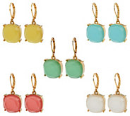 Joan Rivers Candy Color Set of 5 Drop Earrings - J288624