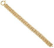 14K Gold 7-1/4 Domed Double Byzantine Bracelet, 10.9g - J295624