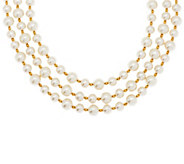 Linea by Louis DellOlio 3-strand Simulated Pearl Necklace - J296624
