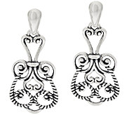 Carolyn Pollack Signature Sterling Scroll Design Drop Earrings - J297024