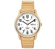 Timex Mens Fashion Easy Reader Goldtone Exp Band Watch - J308824