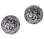 Artisan Crafted Sterling Filigree Stud Earrings - J309524