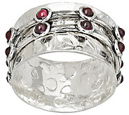 Or Paz Sterling Double Spinner Garnet Ring - J309624