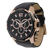 Bronzo Italia Oversized Chronograph Leather Strap Watch - J312824