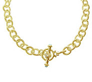 Judith Ripka 5th Avenue 24 Chain Necklace, Sterling 14K Clad - J313624