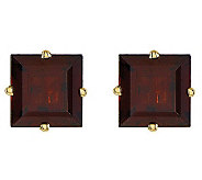 Large Square Princess-Cut Gemstone Stud Earrings, 14K Gold - J314024