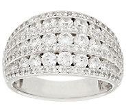 Diamonique 7-Row Dome Ring, Sterling - J318024