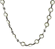 Michael Dawkins 65.00 ct Mint Quartz Sterling Station Necklace - J319824