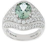 Judith Ripka Sterling Apatite & Diamonique Ring - J320024