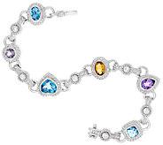 Judith Ripka Sterling 6 3/4 4.50 cttw Multi Gemstone Bracelet - J321024