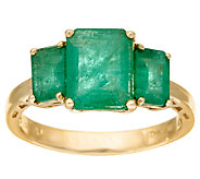 Emerald Cut Zambian Emerald 3-Stone Ring, 14K, 2.50 cttw - J324524