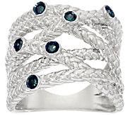 Bezel Set Crossover Diamond Ring, Sterling, 1/10 cttw, Affinity - J326524