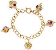 Arte d Oro 20.00 ct tw Gemstone 7-1/4 18K Gold Bracelet 21.0g - J328424