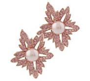 As Is KJL Pink Pedigree Clip Earrings - J329224