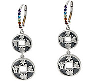 Luv Tia Sterling & Multi-Gemstone Dangle Earrings - J330224