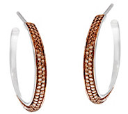 1 Diamond Hoop Earrings, Sterling, 1/4 cttw, by Affinity - J330424