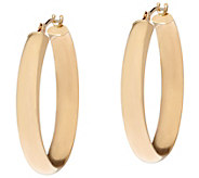 14K Gold 1 Polished Hoop Earrings - J333624