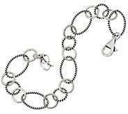 Carolyn Pollack Sterling Silver Charm Link Bracelet 7.3g - J347324