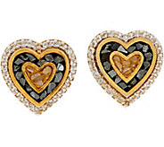 Shana Gulati 18K Clad Diamond Slice Cross or Heart Earrings - J347624