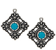 American West Sterling Silver & Turquoise Earring Accessory - J350324