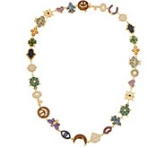 Judith Ripka 14K Clad Lucky Charm Necklace, 6.30cttw - J352524