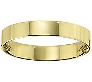 Womens 18K Yellow Gold 4mm Flat Wedding Band - J376724