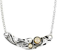 Hagit Sterling Necklace with Cultured Freshwater Pearls - J377424