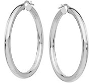 Italian Gold Polished Round Hoop Earrings 14K - J377724
