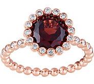 14K 2.00 ct Garnet & 1/5 cttw Diamond Halo Ring - J377824
