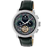 Heritor Automatic Aura Watch - Silvertone/Black - J380324