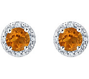 Sterling Silver Round Gemstone or Cultured Pearl Earrings - J380924