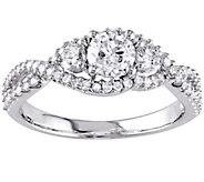 Affinity 14K Gold 9/10 cttw Diamond 3-Stone Infinity Ring - J381124
