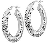Italian Gold 1-1/4 Diamond-Cut Hoop Earrings 14K, 3.4g - J382224