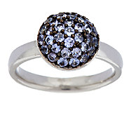 0.55 ct tw Exotic Gemstone Pave Round Sterling Stack Ring - J147325