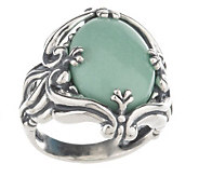 Carolyn Pollack Utah Sterling Variscite Ring - J156725