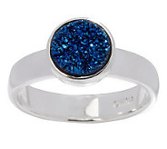 Round Drusy Quartz Sterling Ring - J264525