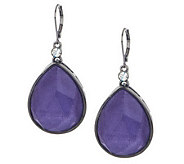 Wendy Williams Faceted Frosted Tear_Drop Earrings - J270025