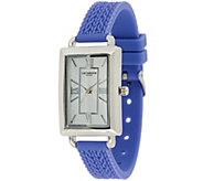Liz Claiborne New York Cable Knit Texture Silicone Watch - J282125