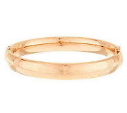 Bronze Large Oval Domed Hinged Bangle by Bronzo Italia - J282225