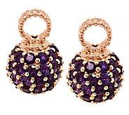 Judith Ripka Sterling & 14K Clad Gemstone Set of 2 Hoop Charms - J288225