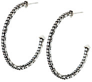 JAI Sterling & Diamonique Croco Hoop Earrings - J291225