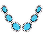 Graziela Gems Sleeping Beauty Turquoise Sterling Ear ClimberEarrings - J296025