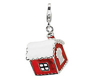 Amore La Vita Sterling Dimensional House withSnow Charm - J300025