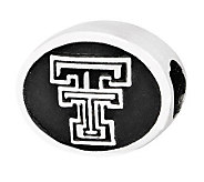 Sterling Silver Texas Tech University Bead - J300725