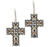 Black Hills Oxidized Heart/Cross Dangle Earring s, Sterling/12 - J303825