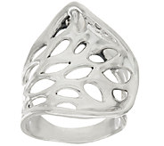Hagit Sterling Silver Cut-out Polished Ring - J319625