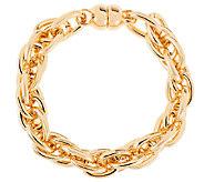 As Is Oro Nuovo 8 Polished Triple Rolo Link Bracelet, 14K - J323625