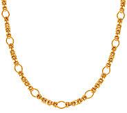 Veronese 18K Clad 24 Fancy Byzantine Necklace - J323725