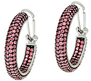 Judith Ripka Sterling_Pave Diamonique Hoop Earrings - J324025
